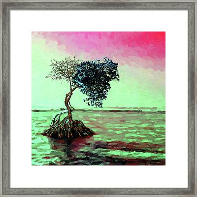 Tree Of Life - Crimson Tide Framed Print