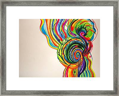 Framed Print featuring the painting Tree Of Life by Erika Swartzkopf