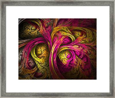 Tree Of Life In Pink And Yellow Framed Print