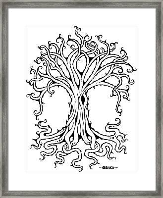Tree Of Life Framed Print by John Benko