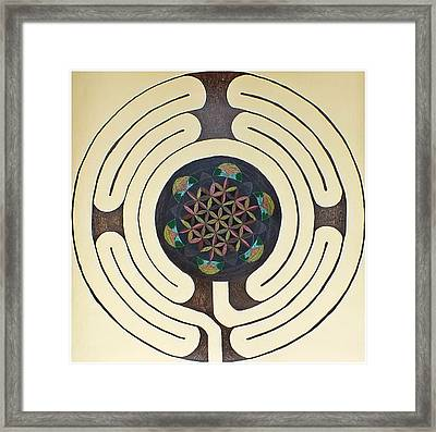 Tree Of Life Labyrinth Framed Print by Folade Speaks