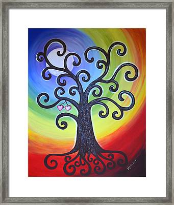 Tree Of Life Love And Togetherness Framed Print