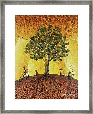 Framed Print featuring the painting Tree Of Life by Maria Langgle