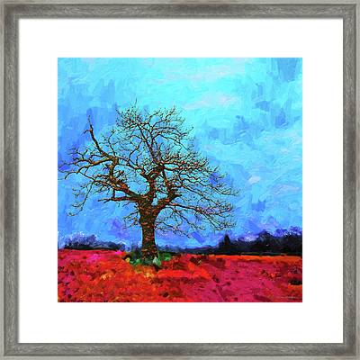 Tree Of Life - Out Of The Blue Framed Print