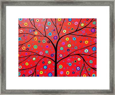 Tree Of Life Painting Framed Print by Pristine Cartera Turkus