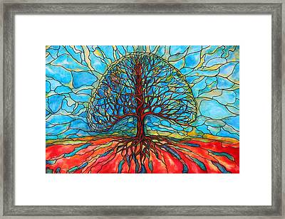 Framed Print featuring the painting Tree Of Life by Rae Chichilnitsky