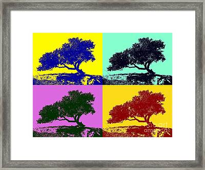 Tree Of Life X 4 Framed Print by Tap On Photo