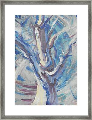 Framed Print featuring the painting Tree Of Light by John Fish