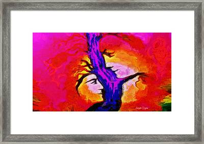 Tree Of Memories - Da Framed Print by Leonardo Digenio