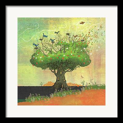 Dennis Wunsch Illustration Framed Prints