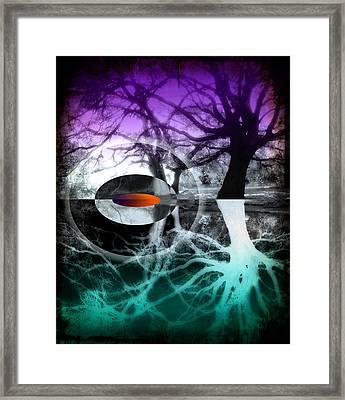 Tree Of Shadows Framed Print by Michi Sherwood
