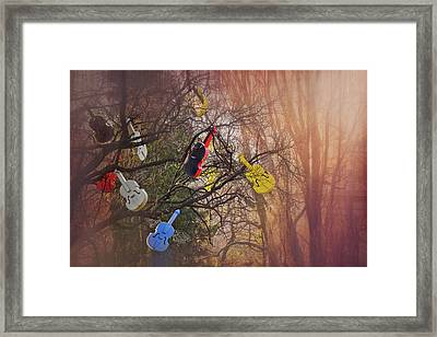 Tree Of Violins In Vienna  Framed Print