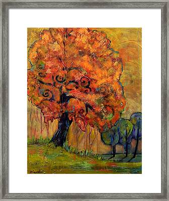 Tree Of Wisdom Framed Print by Blenda Studio