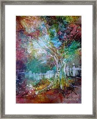 Tree On Fire Framed Print