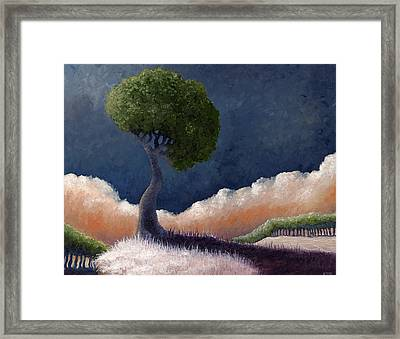 Tree Over The Big Black Framed Print by Ethan Harris