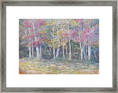 Tree Pageant Framed Print by Penny Neimiller