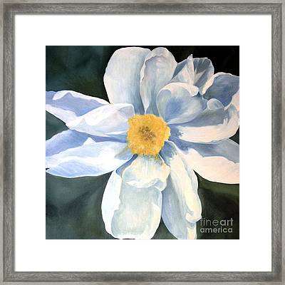 Framed Print featuring the painting Tree Peony by Laurie Rohner