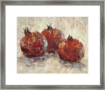 Three Pomegranates Framed Print by Jill Musser