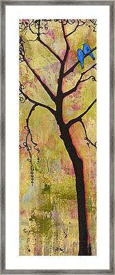 Tree Print Triptych Section 1 Framed Print by Blenda Studio