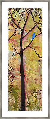 Tree Print Triptych Section 2 Framed Print by Blenda Studio