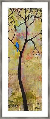 Tree Print Triptych Section 3 Framed Print by Blenda Studio