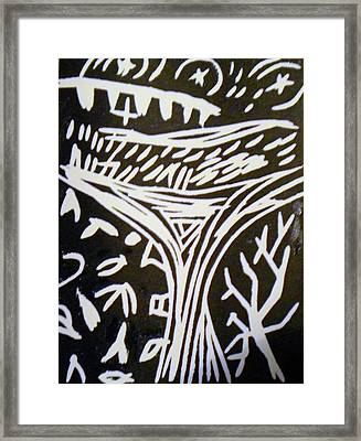 Tree Reaching To Heaven Framed Print by Victoria Hasenauer