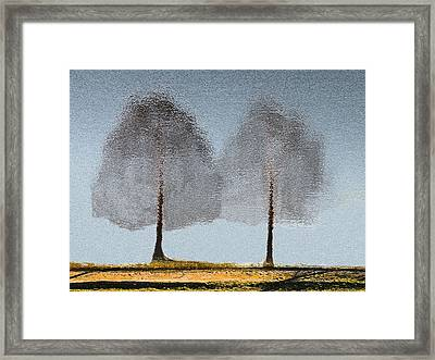 Tree Reflections Framed Print