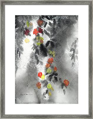 Tree Shadows And Fall Leaves Framed Print