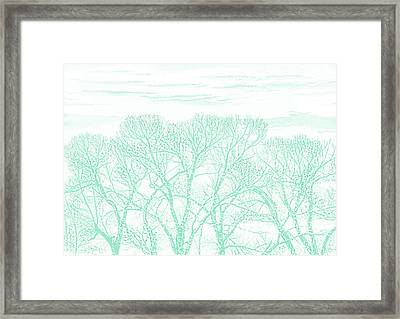 Framed Print featuring the photograph Tree Silhouette Teal by Jennie Marie Schell
