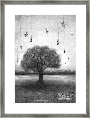 Tree Stars Framed Print by J Ferwerda