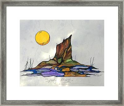 Tree Stump At Spooky Marsh Framed Print by Pat Purdy
