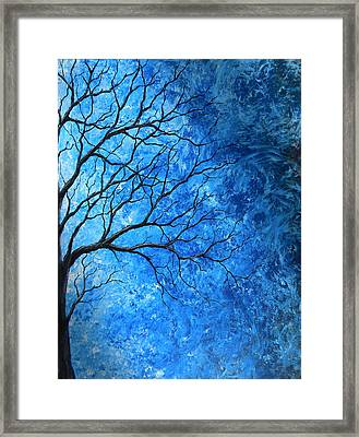 Tree Swirls Framed Print by Sabrina Zbasnik