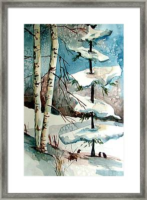 Tree Talkers Framed Print by Mindy Newman