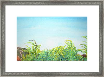Framed Print featuring the painting Tree Tops by Mary Ellen Frazee