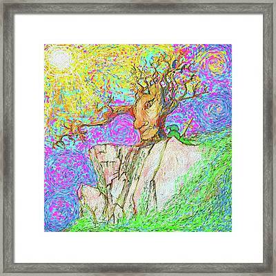 Tree Touches Sky Framed Print