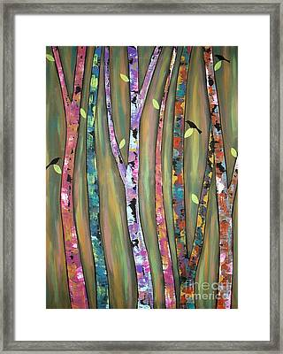 Tree Whistlers Framed Print by Karla Gerard