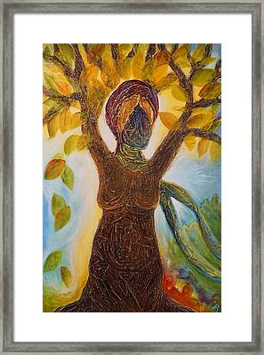 Tree Woman Framed Print