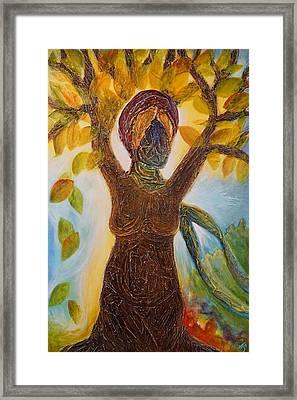 Tree Woman Framed Print by Theresa Marie Johnson