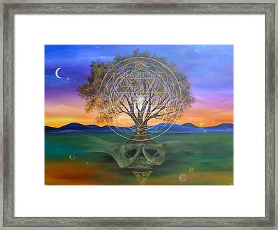 Tree Yantra Framed Print by Sundara Fawn