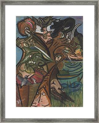 Treed In Skiatook Framed Print by Stu Hanson
