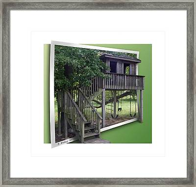 Treehouse Playground Framed Print by Brian Wallace