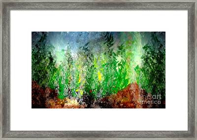 Framed Print featuring the painting Trees 4 by John Krakora