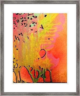 Trees Framed Print by Amanda Schambon
