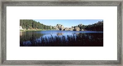 Trees Around The Lake, Sylvan Lake Framed Print by Panoramic Images