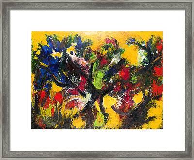 Trees At Sunset Framed Print by Ali Hammoud