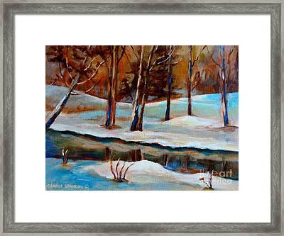 Trees At The Rivers Edge Framed Print by Carole Spandau