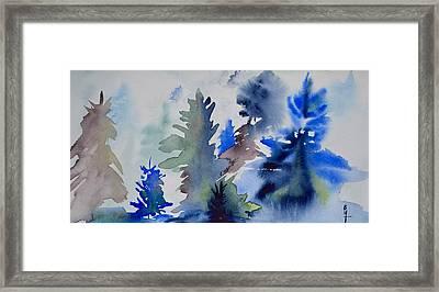 Trees Framed Print by Beverley Harper Tinsley
