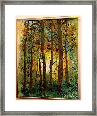 Framed Print featuring the painting Trees by Donald Paczynski