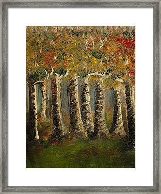 Framed Print featuring the painting Trees by Evelina Popilian