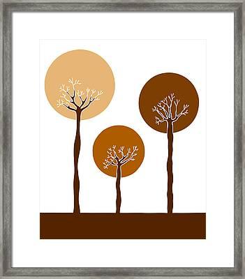 Trees Framed Print by Frank Tschakert